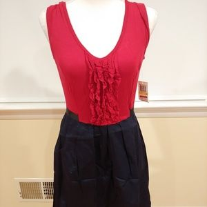 NWT Red and Blue Ruffled Dress